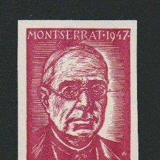 Sellos: VIÑETA RELIGIOSA.MONTSERRAT.AÑO 1947.. Lote 84698808