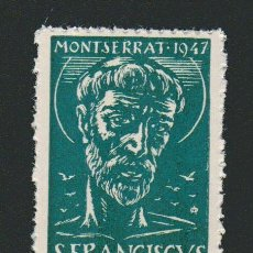 Sellos: VIÑETA RELIGIOSA.MONTSERRAT.AÑO 1947.. Lote 84698924