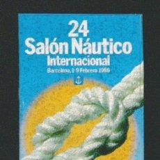 Sellos: VIÑETA.SALÓN NÁUTICO INTERNACIONAL .BARCELONA.AÑO 1986.. Lote 84744532