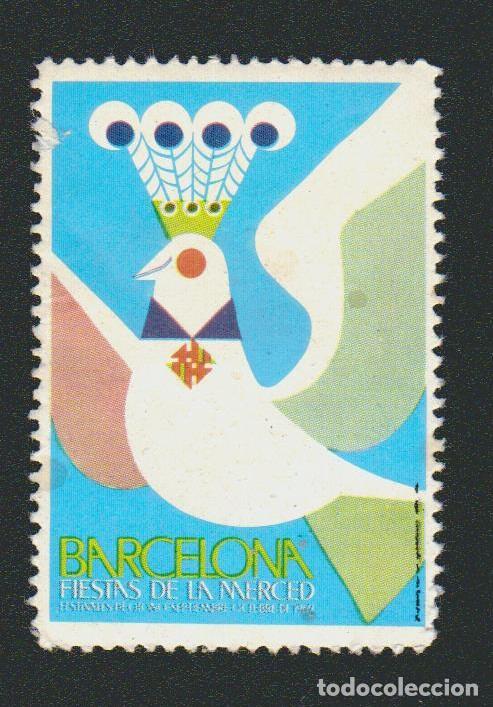 VIÑETA.FIESTAS DE LA MERCED.BARCELONA.AÑO 1969, (Sellos - España - Guerra Civil - Viñetas - Nuevos)