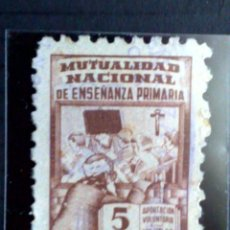 Sellos: ESPAÑA:VIÑETA 5 PTS.(·)MH.MUTUALIDAD NAC. DE ENSEÑANZA PRIMARIA. Lote 84799272