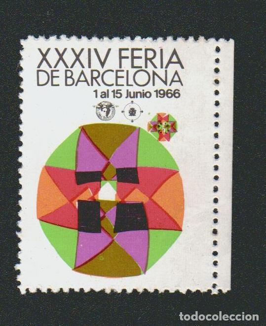 VIÑETA.XXXIV FERIA DE BARCELONA.AÑO 1966. (Sellos - España - Guerra Civil - Viñetas - Nuevos)