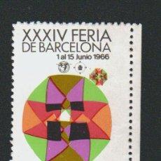 Sellos: VIÑETA.XXXIV FERIA DE BARCELONA.AÑO 1966.. Lote 84804104