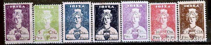 IBIZA. DIOSA TANIT . PRO PARO.SELLOS LOCALES.GUERRA CIVIL-. **,MNH.(17-676) (Sellos - España - Guerra Civil - Locales - Nuevos)