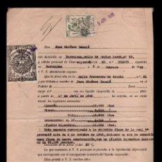 Sellos: L19-23 FISCAL DE LA MUTUALIDAD DE GESTORES ADMINISTRATIVOS DE ESPAÑA DE 50 CTS. SOBRE DOCUMENTO DE A. Lote 85733136