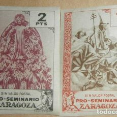 Sellos: PRO-SEMINARIO ZARAGOZA - LOTE 2 SELLOS - 2 10 PTS. Lote 85963768