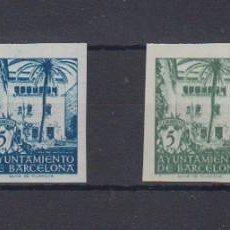 Sellos: AYUNTAMIENTO DE BARCELONA. EDIFIL 65S/68S **. Lote 86094804