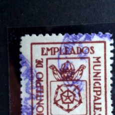 Sellos: ESPAÑA:VIÑETA 25 CTS.(·)MH. MONTEPIO EMPLEADOS MUNICIPALES DE REUS-SIN PIE. Lote 86282126