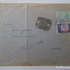 Sellos: ALCALA LA REAL. JAÉN. A GRANADA. CARTA 1937. GUERRA CIVIL. BONITO FRANQUEO Y CENSURA MILITAR. Lote 86895836