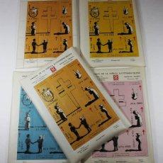 Sellos: 5 HOJAS AMIGOS DE LA VIÑETA ANTITUBERCULOSA VENDRELL 1960 ESPAÑOL-ESPERANTO,VER DESCRIPCION VIÑETAS. Lote 87418300