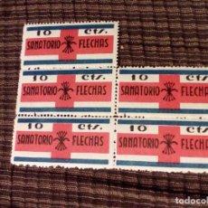 Sellos: FALANGE, SANATORIO FLECHAS 10C, NUEVO,CON GOMA.(PRECIO POR UNO). Lote 117020292