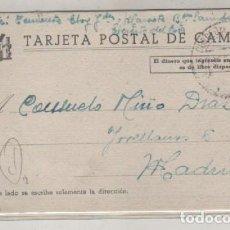 Sellos: TARJETA POSTAL DE CAMPAÑA 28 SEPTIEMBRE DE 1938 GUERRA CIVIL. Lote 89069424