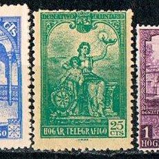 Sellos: HUERFANOS DE TELEGRAFOS EDIFIL Nº 10/12, NUEVO 1 CON SEÑAL DE CHARNELA Y 2 NUEVOS ***. Lote 89383660