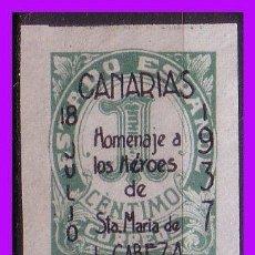 Francobolli: EMISIONES LOCALES PATRIOTICAS 1937 SANTA CRUZ DE TENERIFE EDIFIL Nº NE7 (*). Lote 89462756