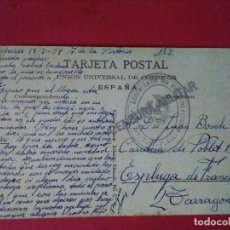 Sellos: TARJETA POSTAL DE ELIZONDO. PAULARENA. CON CUÑO DEL 1ER REGIMIENTO DE FORTIFICACIÓN Y CENSURA.. Lote 89506432