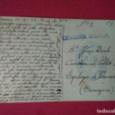 Sellos: TARJETA POSTAL DE ELIZONDO. CRTA FRANCIA. CON CUÑO DEL 1ER REGIMIENTO DE FORTIFICACIÓN Y CENSURA.. Lote 89506804