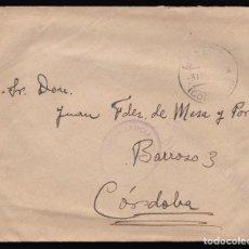 Sellos: *** CARTA 1938 MONTORO-CÓRDOBA RARA CENSURA MONTORO, INFANTERÍA DE MARINA ***. Lote 90466304