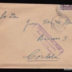 Sellos: *** CARTA 1939 SAN FERNANDO-CÓRDOBA, CUARTEL SAN CARLOS, OFICIAL INFANTERÍA, CENSURA ***. Lote 90471519