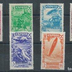 Sellos: .WB/ ESPAÑA NUEVOS * , 1938, EDF. 21/26, HISTORIA DEL CORREO. Lote 91983714