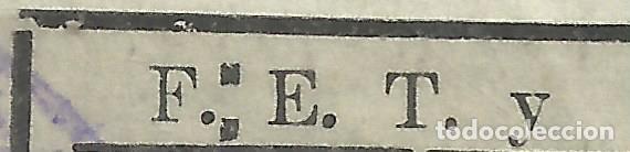 Sellos: 5640-SELLO ESPAÑA VIÑETA GUERRA CIVIL FALANGE *una pesetas .VALENCIA.ERROR 2 PUNTOS : . EN LUGAR DE - Foto 2 - 92275430