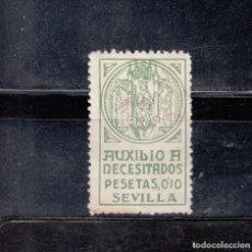 Sellos: SEVILLA. AUXILIO A NECESITADOS. 10 CTS.. Lote 92793815