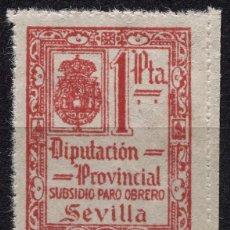 Sellos: SEVILLA, SUBSIDIO PARO OBRERO 1P, ALLEPUZ 62, RR, **. Lote 92868315