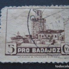 Sellos: SELLO PRO BADAJOZ 5 CTS.. Lote 93099670