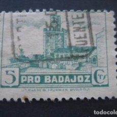Sellos: SELLO PRO BADAJOZ 5 CTS.. Lote 93099705