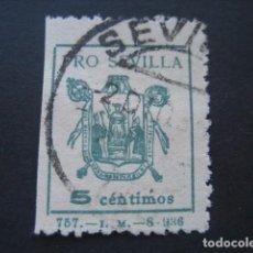 Sellos: SELLO PRO SEVILLA 5 CTS.. Lote 93100135