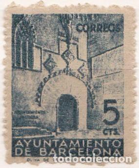 1938 - BARCELONA - PUERTA GOTICA DEL AYUNTAMIENTO - EDIFIL 20**MNH - SIN CIFRA CONTROL -SIN CHARNELA (Sellos - España - Guerra Civil - Locales - Nuevos)