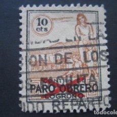 Sellos: SELLO PARO OBRERO LOGROÑO 10 CTS.. Lote 93109230
