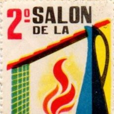 Sellos: VALENCIA 1963. 2º SALON DE LA CERAMICA. VIÑETA **. MNH, RARA. Lote 93392445