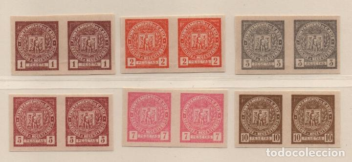 CADIZ, AUXILIO NECESITADOS, PAREJAS S/D, 1 , 2, 3, 5, 7 ,Y 10 PTAS, VER FOTO (Sellos - España - Guerra Civil - De 1.936 a 1.939 - Usados)