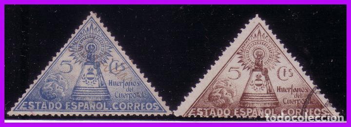 1938 VIRGEN DEL PILAR, EDIFIL Nº 19 Y 20 (O) (Sellos - España - Guerra Civil - Beneficencia)