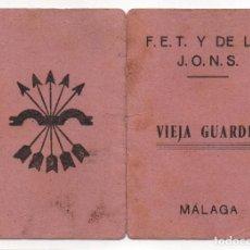Sellos: MALAGA, CARNET, VIEJA GUARDIA, F.E.T. Y LAS J.O.N.S. VER FOTOS. Lote 94429826