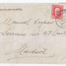 Sellos: CARTA DE LA GARRIGA. BARCELONA A MADRID. 1937. DIRIGIDA A UN CAMARADA. . Lote 94755911