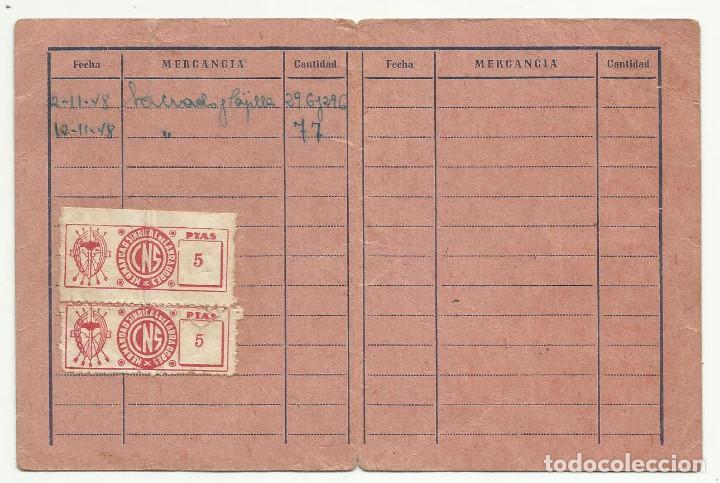WW0-CARTILLA CARNET MURCIA GUADALUPE CON SELLOS,CUOTAS,CENTRAL NACIONAL SINDICALISTA HERMANDA (Sellos - España - Guerra Civil - Viñetas - Usados)