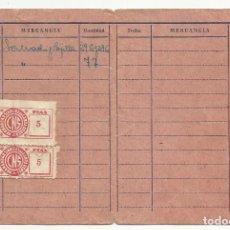 Sellos: WW0-CARTILLA CARNET MURCIA GUADALUPE CON SELLOS,CUOTAS,CENTRAL NACIONAL SINDICALISTA HERMANDA. Lote 94976223