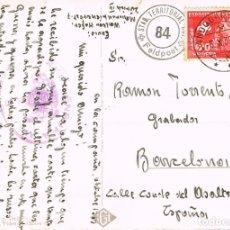 Sellos: CENSURA MILITAR DE BARCELONA, TARJETA POSTAL CIRCULADA DESDE SUIZA A BARCELONA EL AÑO 1939. Lote 95059499