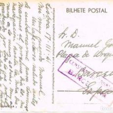 Sellos: CENSURA GUBERNATIVA DE BARCELONA, TARJETA POSTAL CIRCULADA SIN SELLO EN 1941. Lote 95059879