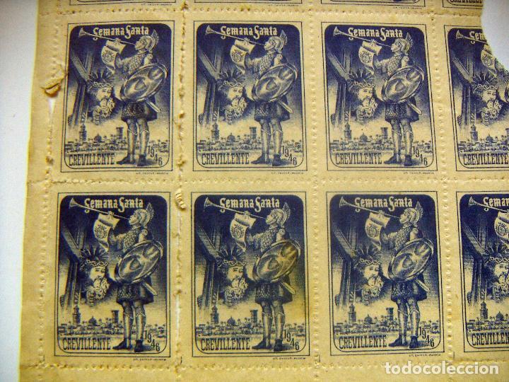 Sellos: Hoja con Viñetas Semana Santa de Crevillente 1946 - Foto 2 - 95074191