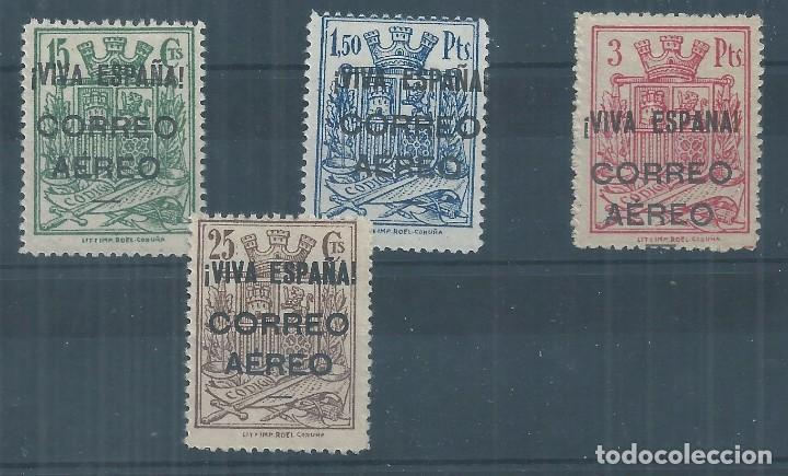 .WB/ BURGOS EDF. 64/67 ** MNH, 1937, HABILITADOS, FISCALES (Sellos - España - Guerra Civil - De 1.936 a 1.939 - Nuevos)