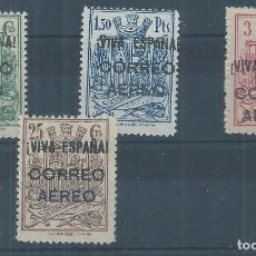 Sellos: .WB/ BURGOS EDF. 64/67 ** MNH, 1937, HABILITADOS, FISCALES. Lote 95132515