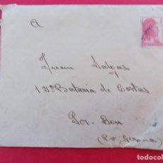 Sellos: GUERRA CIVIL- CARTA DE BDA ALTA GRUPO DE ARTILLERIA, A 12 BATERIA DE COSTAS,PORT BOU .. R-6897. Lote 95174047
