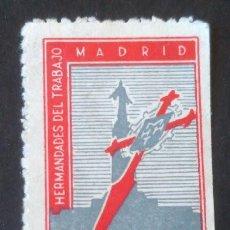 Sellos: VIÑETA 5 PESETAS - HERMANDADES DEL TRABAJO DE MADRID (SIN GOMA). Lote 95215995