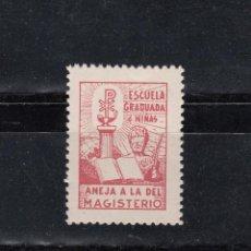 Selos: ESCUELA GRADUADA DE NIÑAS. ANEJA A LA DEL MAGISTERIO. SELLO FALANGISTA. Lote 95285931