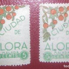 Sellos: ESPAÑA ALORA MALAGA LOCAL 1937 GALVEZ 50-50A FESOFI 5-5A GUERRA CIVIL. Lote 95506431