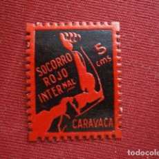 Sellos: CARAVACA. MURCIA. SOCORRO ROJO INTERNACIONAL. 5 CENTIMOS. CHARNELA. Lote 95637119