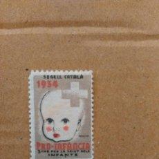 Sellos: PRO-INFANCIA. PER LA SALUT DELS INFANTS. 5 CTS.. Lote 95665691