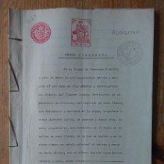 Sellos: W64-ESCRITURA DOCUMENTO COMPLETO SELLOS FISCALES CARAVACA MURCIA 10 PESETAS CLASE 4ª. 1910 Y OTROS S. Lote 95733231
